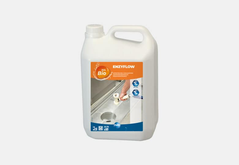PolBio Enzyflow degreaser for pipework in a food environment