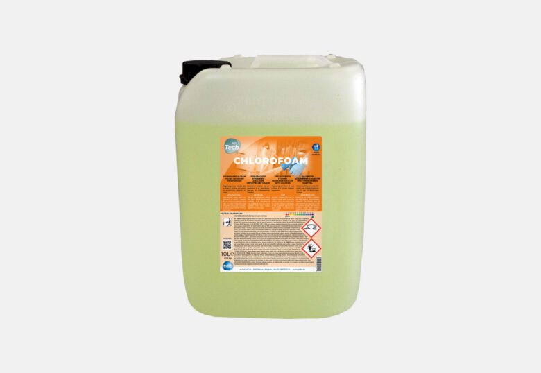 PolTech Chlorofoam foaming chlorinated degreaser for a food environment